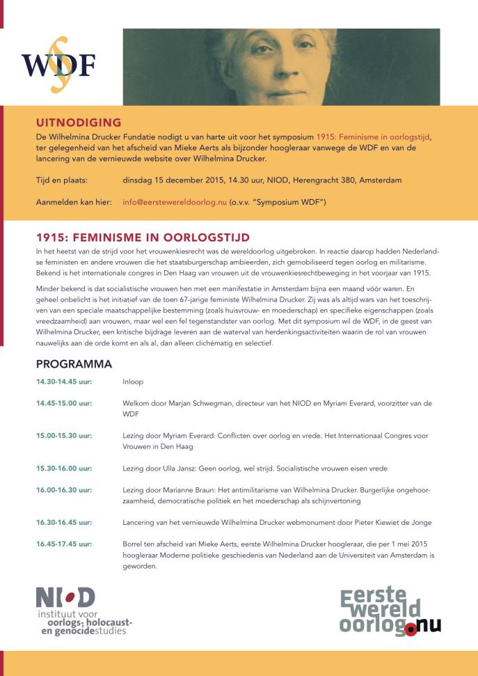 Uitnodiging WDF 15 DECEMBER 2015